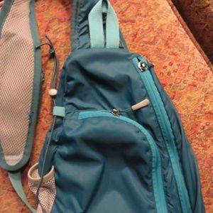 Eddie Bauer teal side sling bag, lightweight nwot
